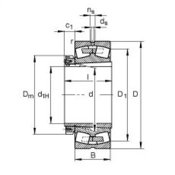 FAG محامل كروية - 230/750-K-MB + H30/750-HG