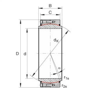 FAG Large radial spherical plain bearings - GE950-DW-2RS2