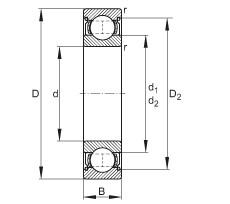 FAG الأخدود العميق الكرات - 6017-2Z