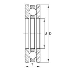FAG محوري الأخدود العميق الكرات - FT43