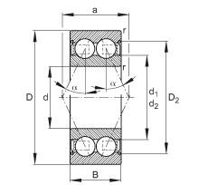 FAG الزاوي الاتصال الكرات - 3217-B-2Z-TVH