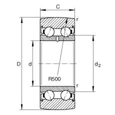 FAG بكرات الجنزير - LR50/7-2RSR