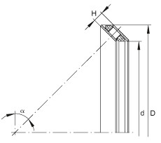 FAG محوري الزاوي الاتصال محامل - AXS8599