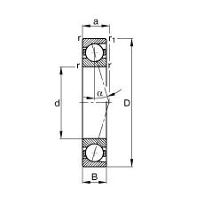FAG محامل المغزل - B71917-C-T-P4S