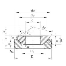 FAG Axial spherical plain bearings - GE80-AX