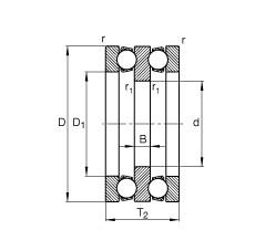 FAG محوري الأخدود العميق الكرات - 52220