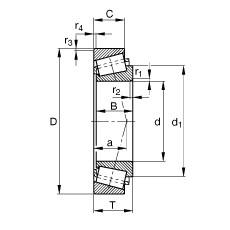 FAG تناقص الأسطوانة المحامل - K497-492-A
