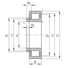 FAG محامل أسطوانية - NJ2317-E-XL-TVP2 + HJ2317-E