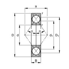 FAG أربعة محامل الاتصال نقطة - QJ217-XL-MPA