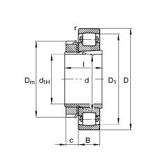 FAG برميل محامل - 20318-K-MB-C3 + H318