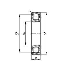 FAG برميل محامل - 20217-K-MB-C3