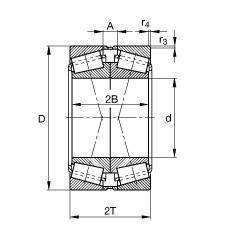 FAG تناقص الأسطوانة المحامل - 32017-X-XL-P5-DF-A80-100