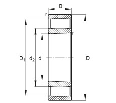FAG محامل حلقية - C2217-XL-K-V