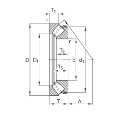 FAG محوري كروية محامل - 29317-E1-XL