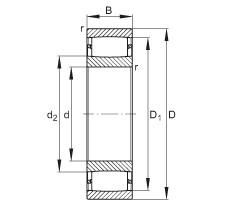 FAG محامل حلقية - C39/800-XL-M