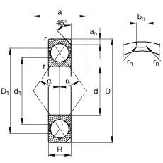 FAG أربعة محامل الاتصال نقطة - QJ1017-N2-MPA