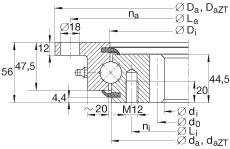 FAG أربعة محامل الاتصال نقطة - VLI201094-N