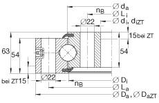 FAG أربعة محامل الاتصال نقطة - VSU250955