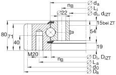 FAG أربعة محامل الاتصال نقطة - VSA250855-N