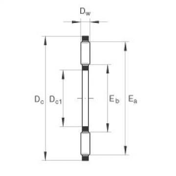 FAG Axial needle roller and cage assemblies - AXK90120