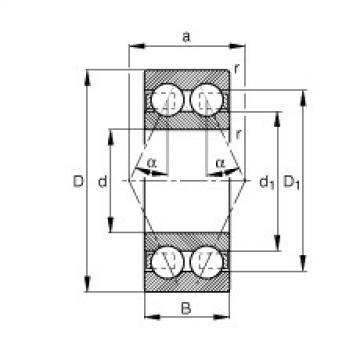 FAG الزاوي الاتصال الكرات - 3217-B-TVH