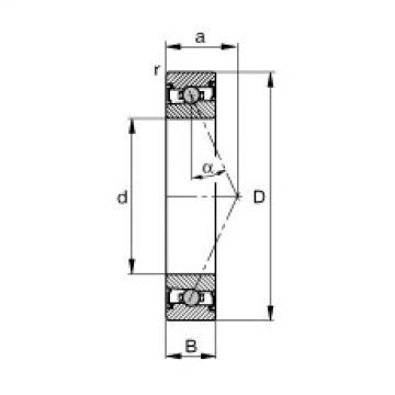 FAG محامل المغزل - HCS7017-E-T-P4S