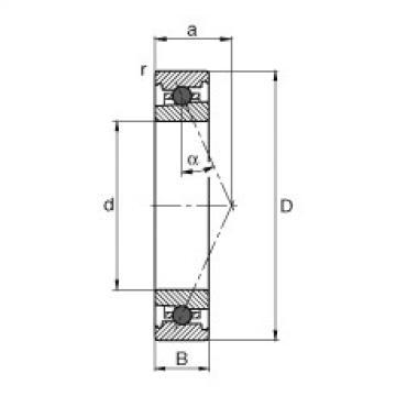FAG محامل المغزل - HC71917-E-T-P4S