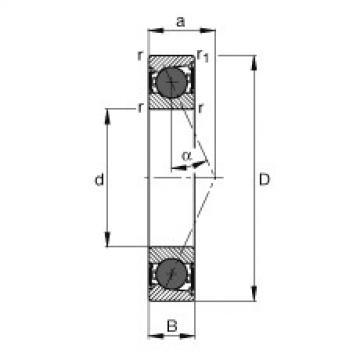 FAG محامل المغزل - HCB7017-E-2RSD-T-P4S