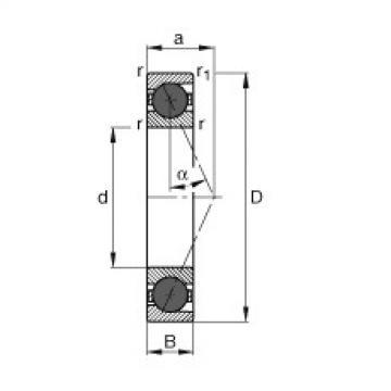 FAG محامل المغزل - HCB7017-E-T-P4S