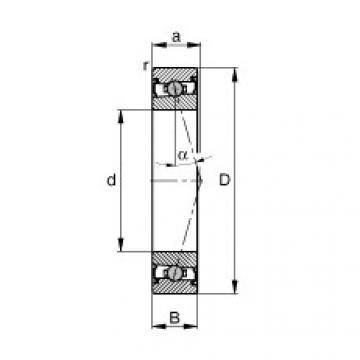 FAG محامل المغزل - HCS71917-C-T-P4S