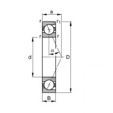FAG محامل المغزل - B71918-E-T-P4S