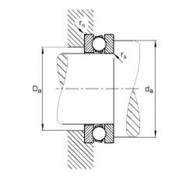 FAG محوري الأخدود العميق الكرات - 51217