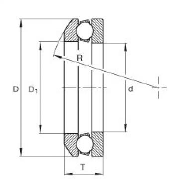 FAG محوري الأخدود العميق الكرات - 4117