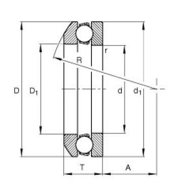 FAG محوري الأخدود العميق الكرات - 53217 + U217