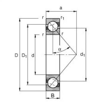 FAG الزاوي الاتصال الكرات - 7217-B-XL-MP