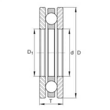 FAG محوري الأخدود العميق الكرات - 4442