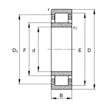 FAG محامل أسطوانية - NU2217-E-XL-TVP2