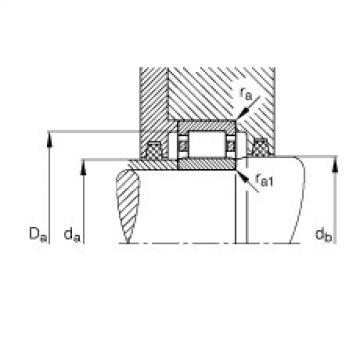 FAG محامل أسطوانية - NU1017-XL-M1