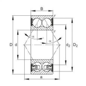 FAG الزاوي الاتصال الكرات - 3316-BD-XL-2HRS-TVH