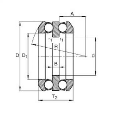 FAG محوري الأخدود العميق الكرات - 54320 + U320