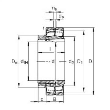 FAG محامل كروية - 22318-E1-XL-K + H2318