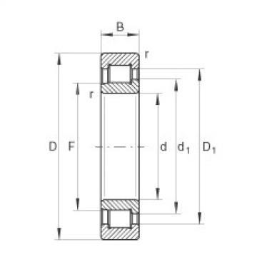 FAG محامل أسطوانية - SL192316-XL