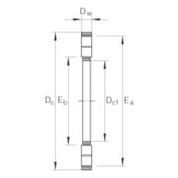 FAG Axial cylindrical roller and cage assembly - K89317-M