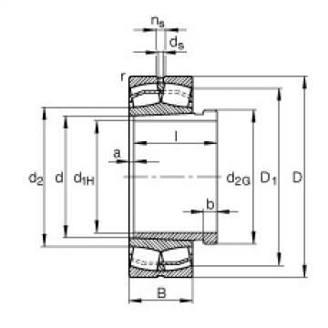 FAG محامل كروية - 21317-E1-XL-K + AHX317