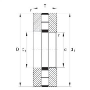 FAG محوري أسطواني محامل - 89417-M