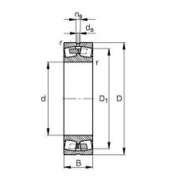 FAG محامل كروية - 232/670-B-MB