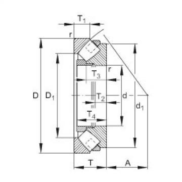 FAG محوري كروية محامل - 293/670-E1-XL-MB